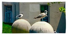 Friends On Spheres Bath Towel
