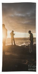 Hand Towel featuring the photograph Friends On Sunset by Jorgo Photography - Wall Art Gallery