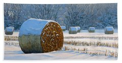 Frigid Morning Bales Hand Towel