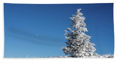 Frigid Winter Day On The Appalachian Trail Hand Towel