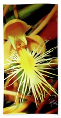 Hand Towel featuring the photograph Fringed Yellow Orchid by Meta Gatschenberger