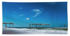 Frisco Fishing Pier In North Carolina Panorama Hand Towel