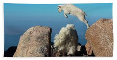 Leaping Baby Mountain Goat Hand Towel