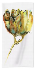 Fritillaria Bath Towel by Frances Marino