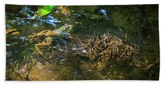 Bath Towel featuring the photograph Frog Days Of Summer by Bill Pevlor