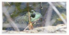 Frog Eyes Hand Towel
