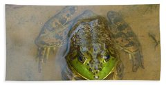Hand Towel featuring the photograph Frog Of Lake Redman by Donald C Morgan
