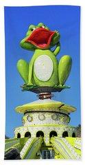 Froggy Bath Towel by Don Pedro De Gracia