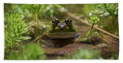 Bath Towel featuring the photograph Froggy by Douglas Stucky
