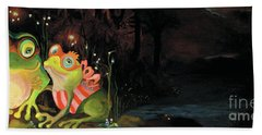Frogs At Silver Lake Hand Towel