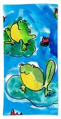 Frogs Hand Towel
