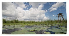 From A Frog's Point Of View - Lake Okeechobee Bath Towel by Christopher L Thomley