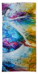 Bath Towel featuring the painting From Captivity To Creativity by Deborah Nell