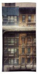 From My Window - A Snowy Day In New York Bath Towel