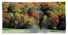From New Hampshire With Love - Fall Foliage Bath Towel by Joseph Hendrix