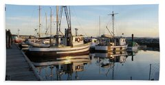 From The Dock At Powell River Bath Towel