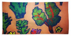 Hand Towel featuring the painting From The Earth 2 by Winsome Gunning