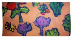 Bath Towel featuring the painting From The Earth by Winsome Gunning