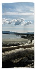 from the shore at Powell River Bath Towel