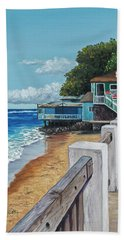 Hand Towel featuring the painting Front Street Lahaina by Darice Machel McGuire