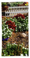Front Yard Flowers Bath Towel by Randy Sylvia