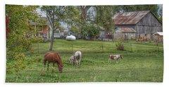1008 - Front Yard Ponies Bath Towel