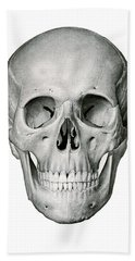 Frontal View Of Human Skull Hand Towel
