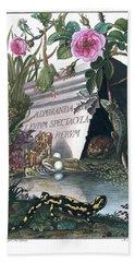 Frontis Of Historia Naturalis Ranarum Nostratium Hand Towel by ArtistAugust Johann Roesel von Rosenhof