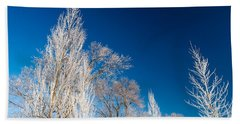 Frost Covered Trees Bath Towel
