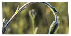 Frost On Flower Hand Towel by Odon Czintos