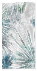 Hand Towel featuring the digital art Frosted Abstract by Methune Hively