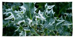 Frosted Holly Hand Towel