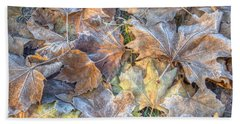 Frosted Leaves 8x10 Hand Towel