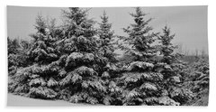Hand Towel featuring the photograph Frosted Trees by Kathleen Sartoris