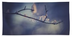 Hand Towel featuring the photograph Frosty Branch by Shane Holsclaw