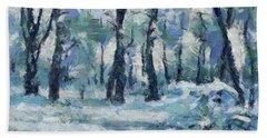 Frosty Day Hand Towel by Dragica Micki Fortuna