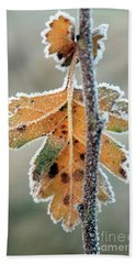 Frosty Leaf Bath Towel