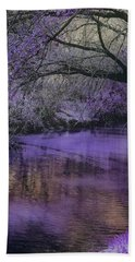 Frosty Lilac Wilderness Bath Towel by Michele Carter