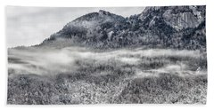 Snowy Grandfather Mountain - Blue Ridge Parkway Hand Towel