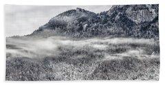 Snowy Grandfather Mountain - Blue Ridge Parkway Bath Towel