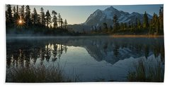Hand Towel featuring the photograph Frosty Picture Lake by Dan Mihai