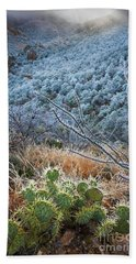 Frosty Prickly Pear Hand Towel