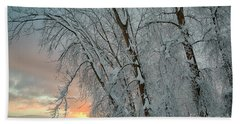 Frosty Sunrise Bath Towel