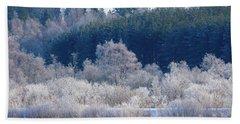 Frosty Trees Of February Bath Towel