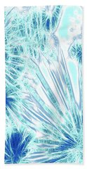 Hand Towel featuring the digital art Frozen Blue Ice by Methune Hively