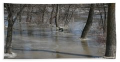 Frozen Floodwaters Hand Towel