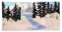 Frozen Tranquility Hand Towel