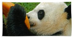 Frozen Treat For Mei Xiang The Giant Panda Hand Towel by Emmy Marie Vickers