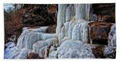 Frozen Waterfall Bath Towel