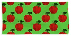 Fruit 02_apple_pattern Hand Towel by Bobbi Freelance